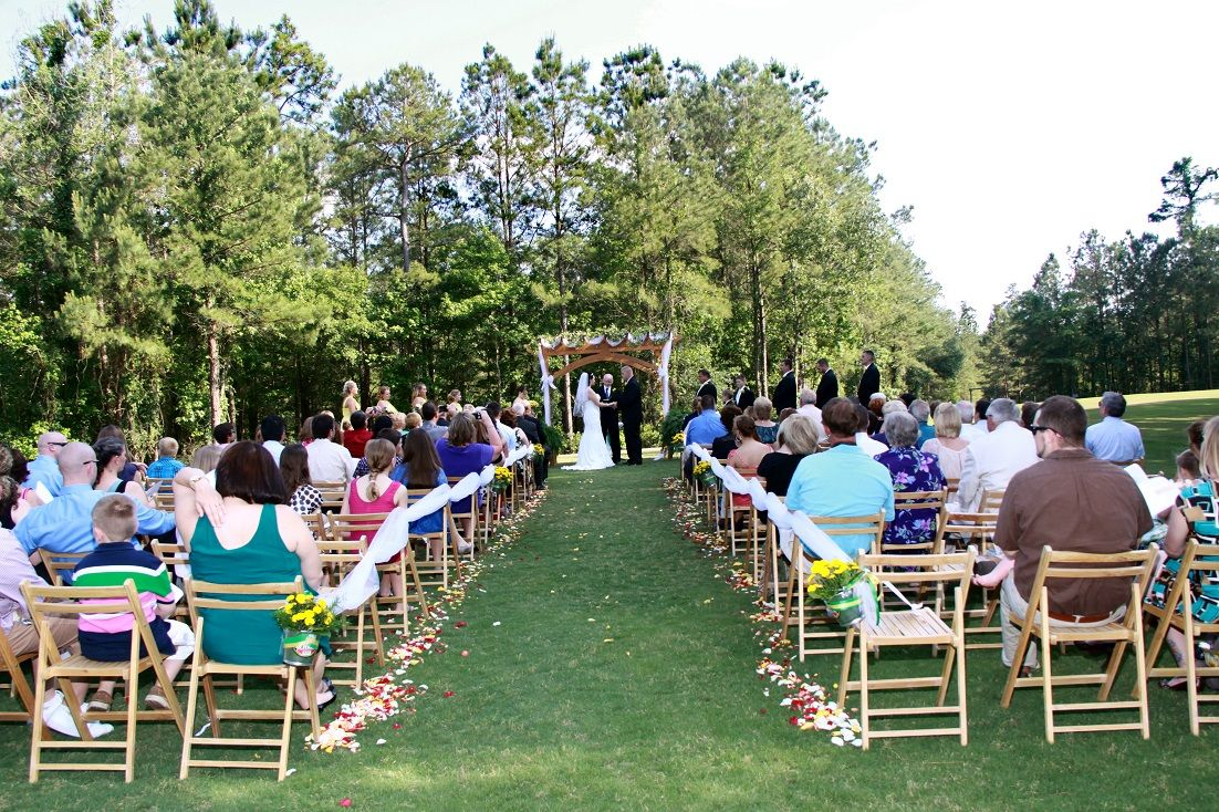 An Open Air Wedding At Cypress Hall In North Charleston Wannamaker County  Park. (