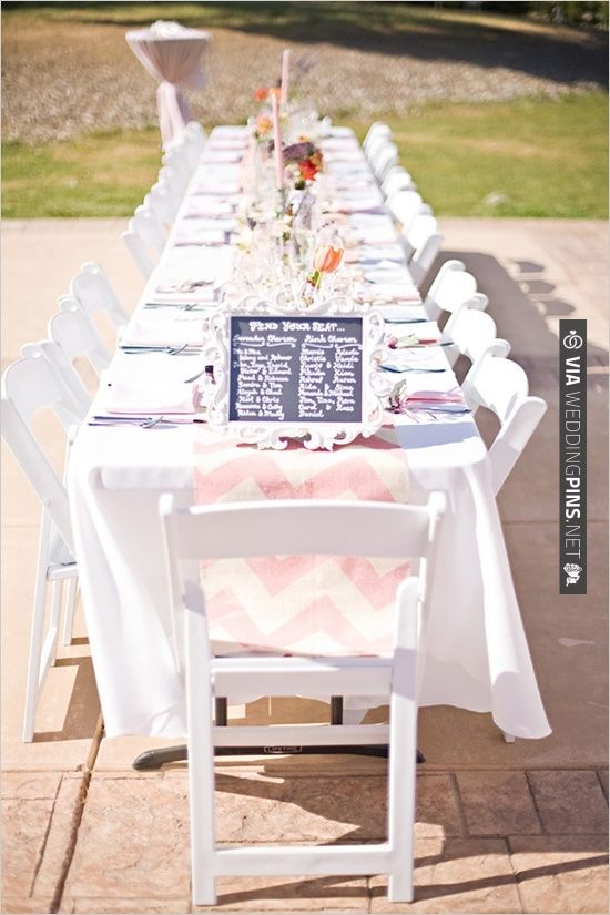 pink chevron table cloth for wedding table decor check out more rh pinterest com