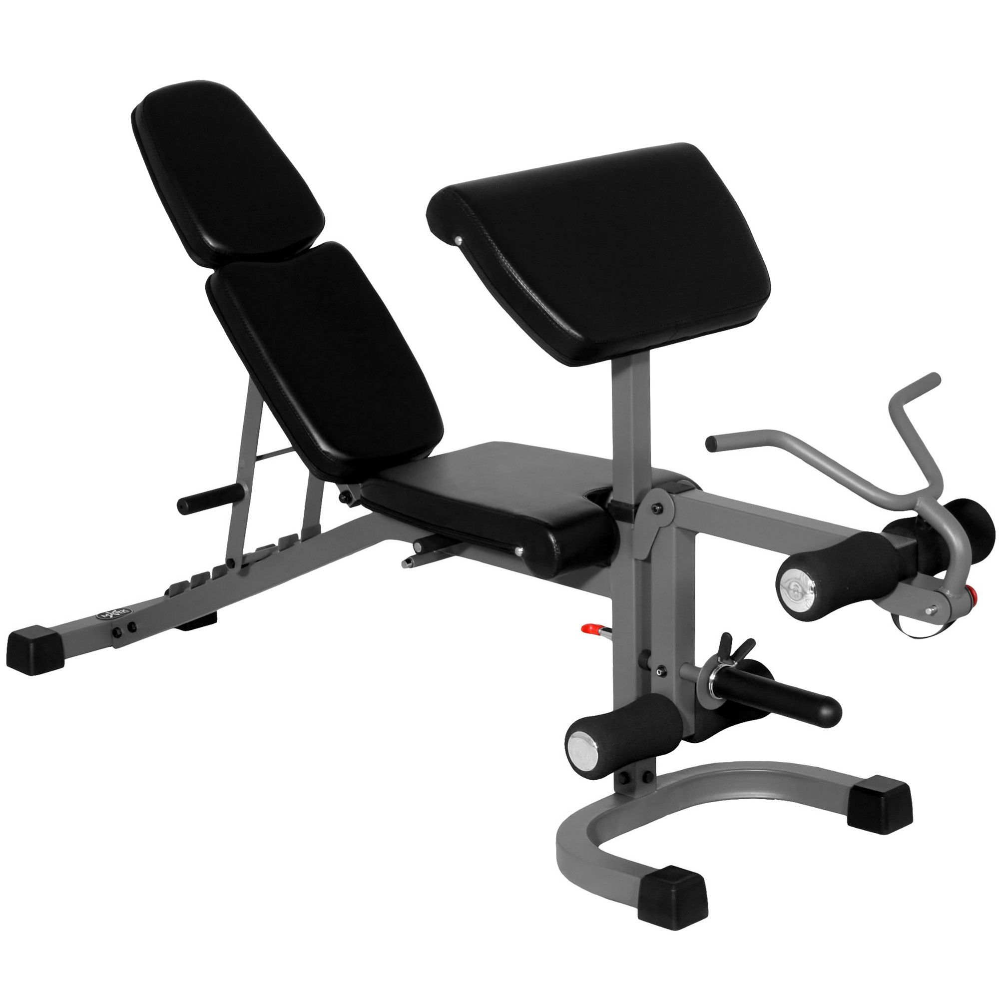 XMark FID Flat Incline Decline Weight Bench with Arm Curl