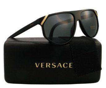 cba8e4947351 Versace Men VE4240 Black Grey Sunglasses 61mm