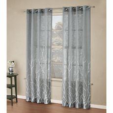 New Living Room Curtains Alton Print Grommet Window Curtain