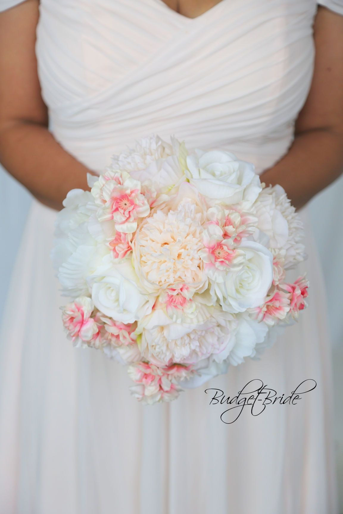 Davids Bridal Cherry Blossom Wedding Bouquet With Bellini Peach And
