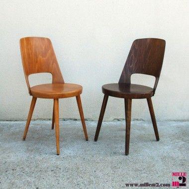 Chaises Vintage Baumann Trapeze Chaise Vintage Chaise Chaises Baumann