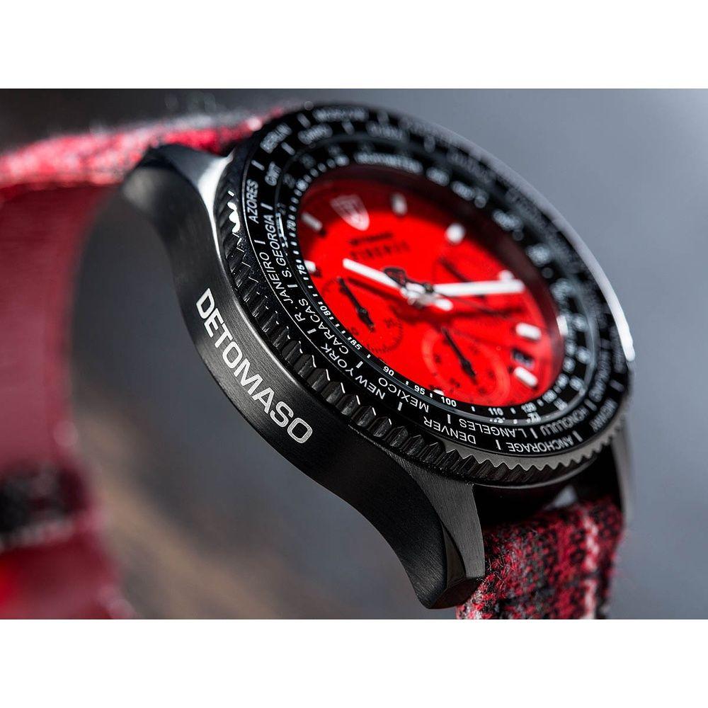 detomaso firenze | Detomaso FIRENZE Tartan Armbanduhr Chronograph Rot/Schwarz - kaufen ...