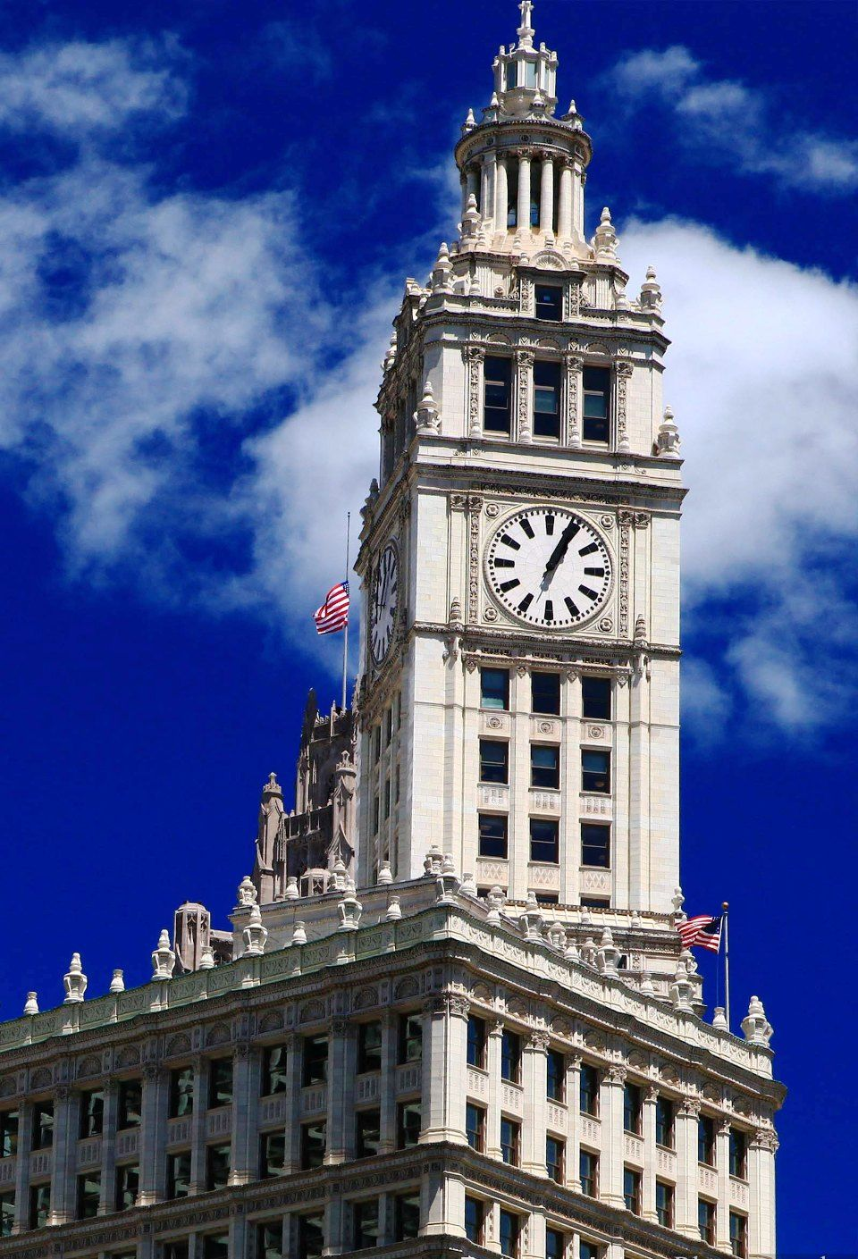 Wrigley Building Clock Tower, Chicago | Clock tower, My ...