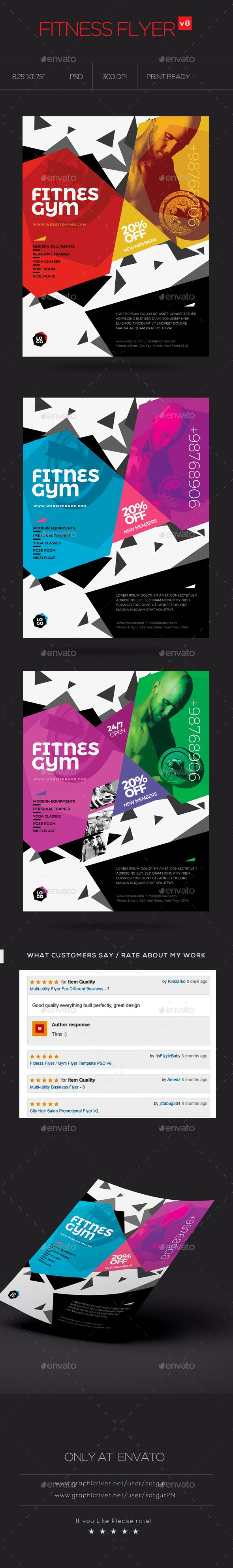 Fitness Flyer  Gym Flyer V  Flyer Template Gym And Fonts