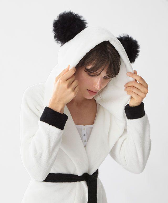 Panda fleece dressing gown - New In - SLEEP | Autumn Winter 2016 ...