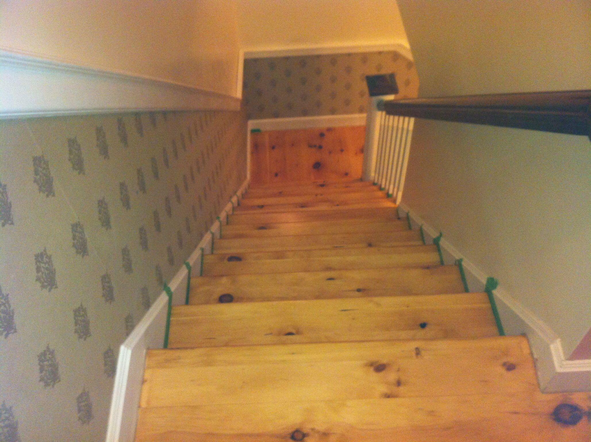 Best Natural Pine Stairs Duraseal 210 Neutral Stain Luxury 400 x 300