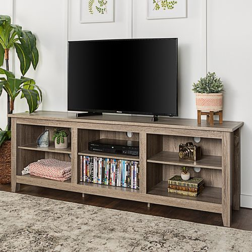 Driftwood 70 Tv Stand Tv Stand With Storage Tv Stand Furniture Tv Stand Wood