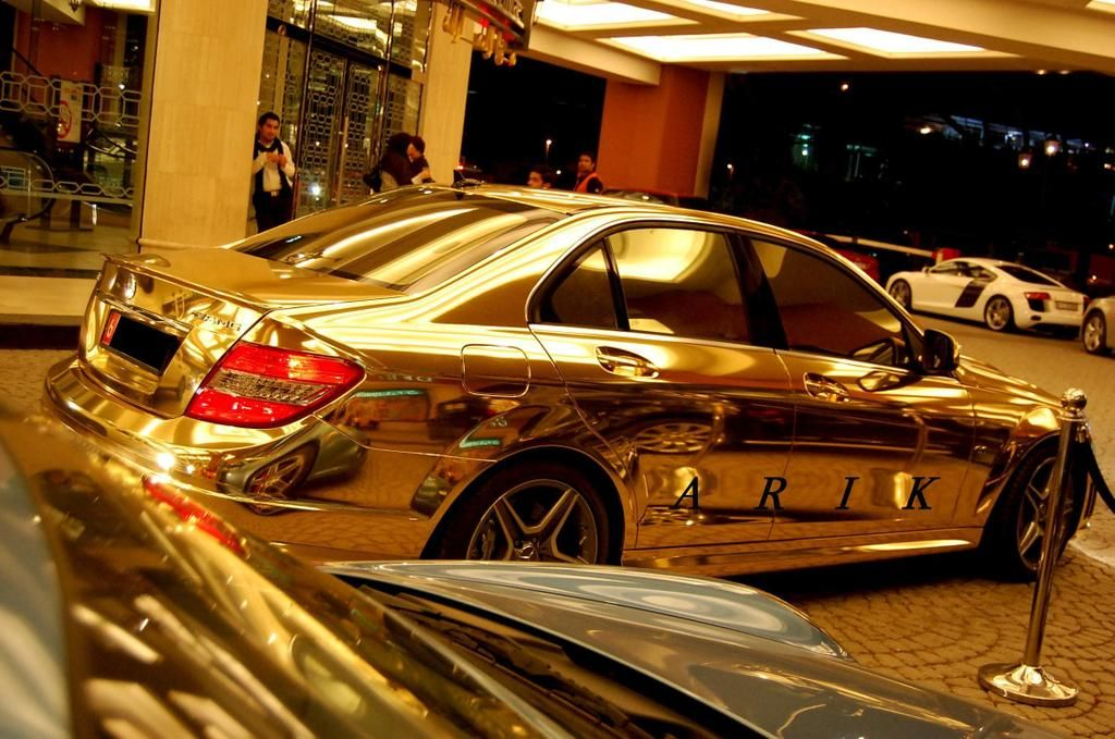 Gold Pictures Check Out The Complete Mercedes Benz Made From