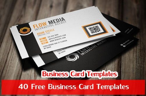 40 Free Business Card Templates Free business cards, Card - business card sample