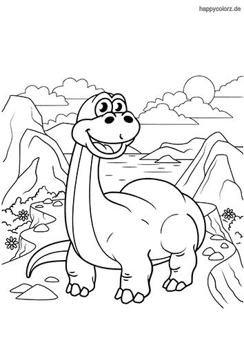 Brachiosaurus Ausmalbild Malvorlage Dinosaurier Malvorlagen Tiere Lustige Malvorlagen
