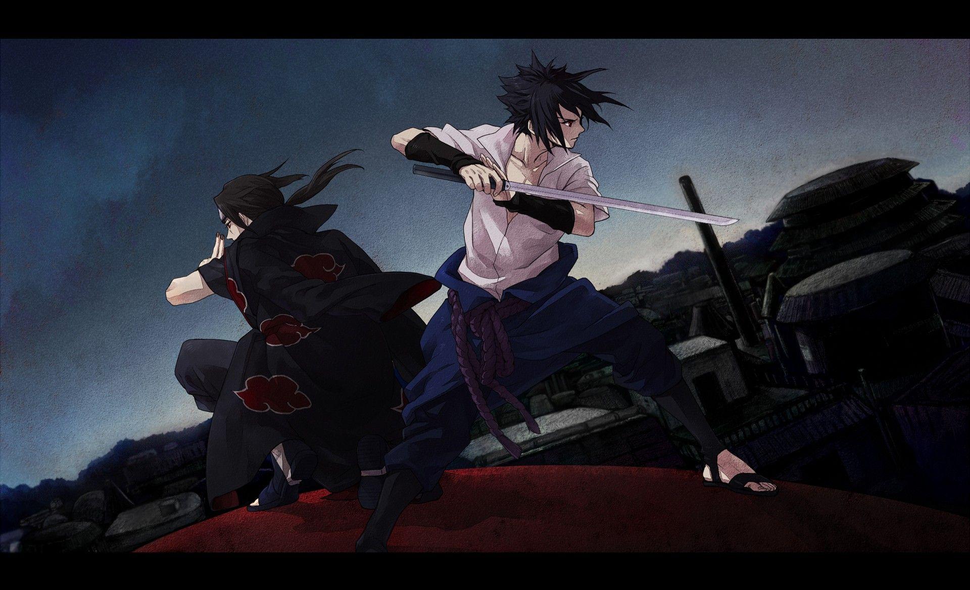Beautiful Sasuke and Itachi Wallpaper di 2020 Gambar