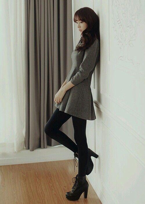 017e35abc korean style - mini dress and legging