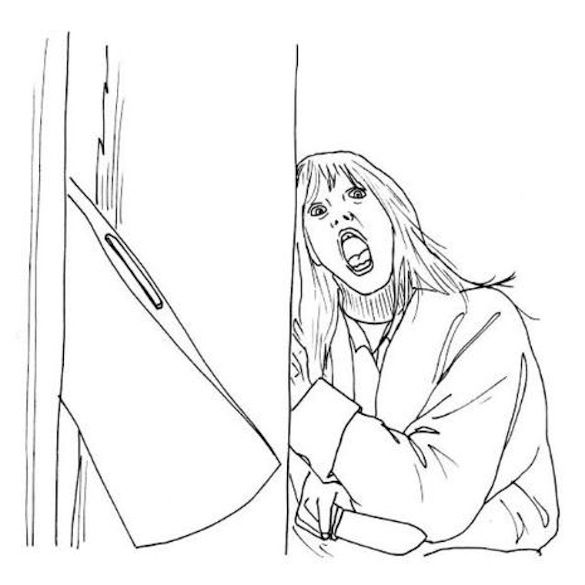 Horror Movie Coloring Pages Adult Coloring Horror Pinterest Scary Horror Coloring Pages
