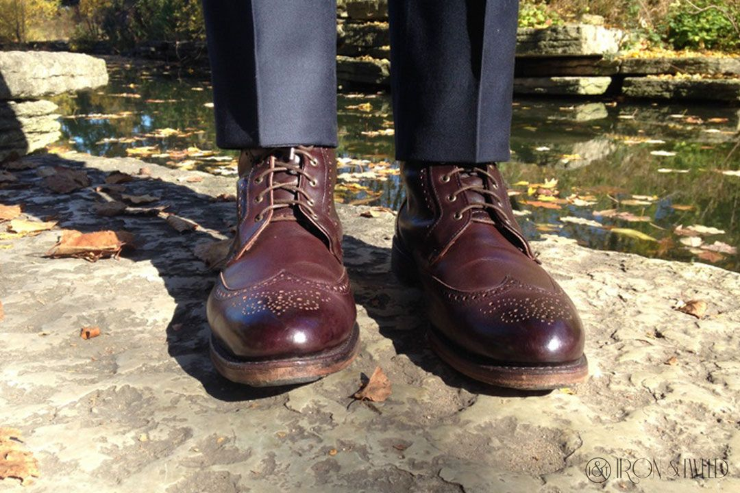 4a0b78053cf $445 Dalton Wingtip Dress Boots SOLD by ALLEN EDMONDS PHOTO by Iron ...