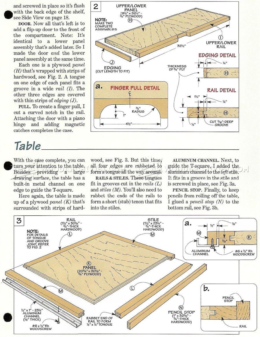 373 Fold Down Drafting Table Plans Workshop Solutions Rh Pinterest Com Drafting  Table Plans To Make Drafting Table Plans Free