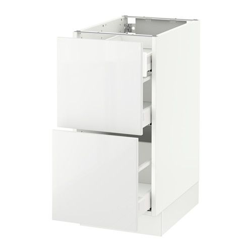 Base Cab With 2 Fronts 3 Drawers White Maximera Ringhult White 15x24x30 Drawers Ikea Kitchen Base Cabinets