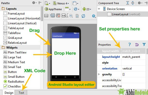 Android #UI #designing can be done either in #XML or