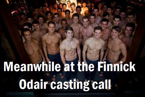 Meanwhile at the Finnick Odair casting call. #TheHungerGames #Funny #Humor