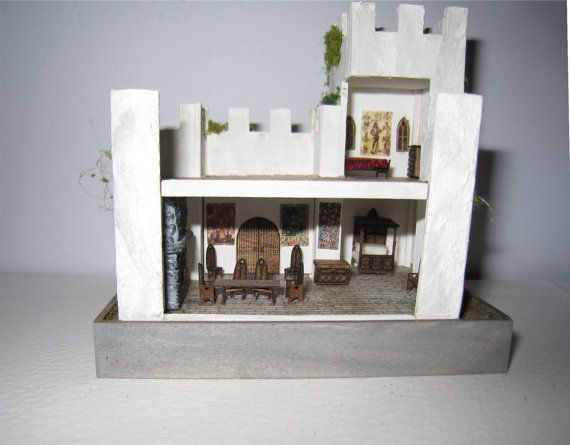 Pic 2 of 2 ~ Castle, furnished, in 1/144th scale... 125.00, via Etsy.