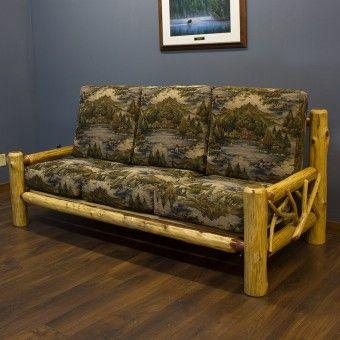 Red Cedar Log Twig Sofa Made In Usa Rustic Log Furniture