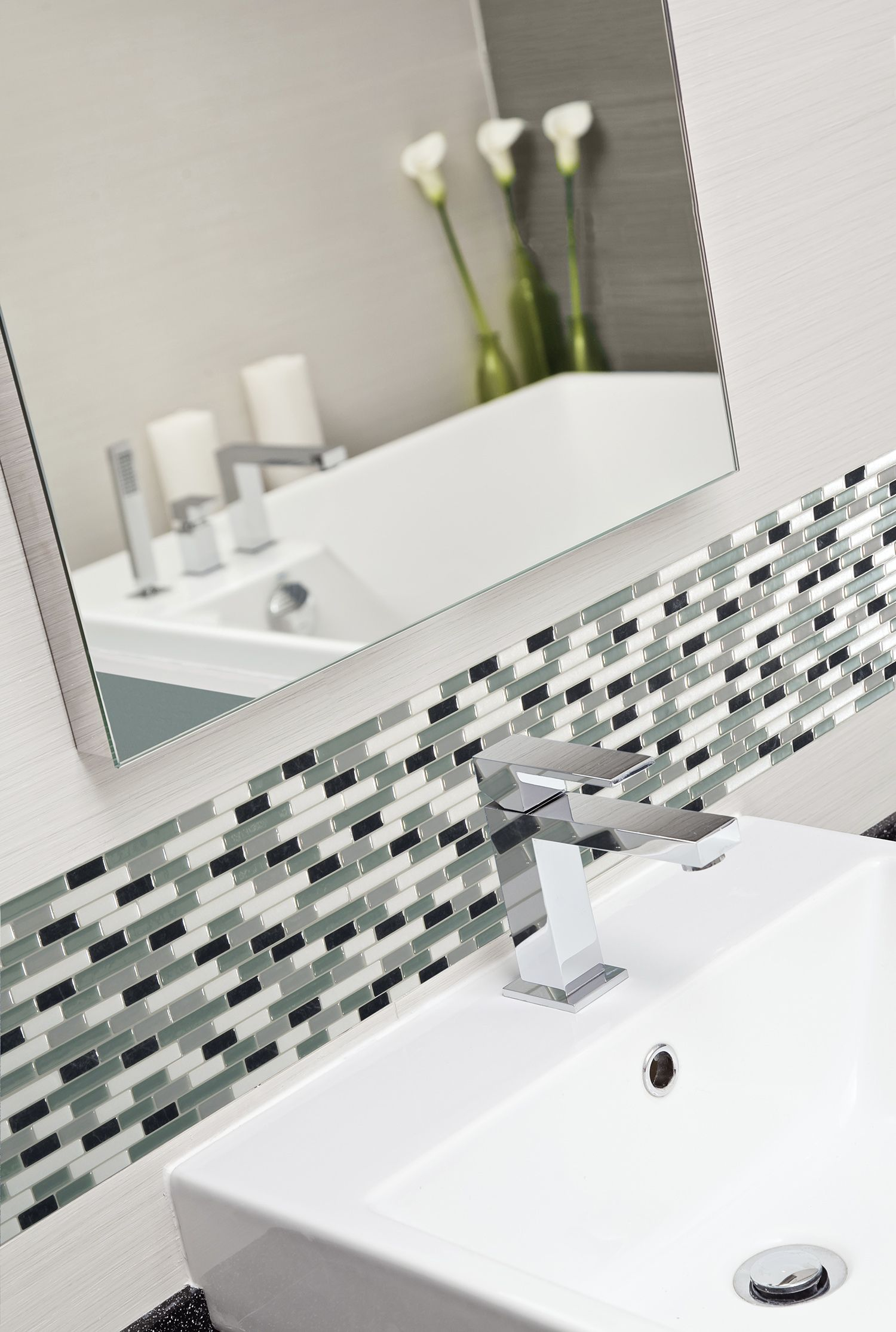 Carrelage Salle De Bain Auto Adhesif ~ peel and stick backsplash smart tiles places pinterest
