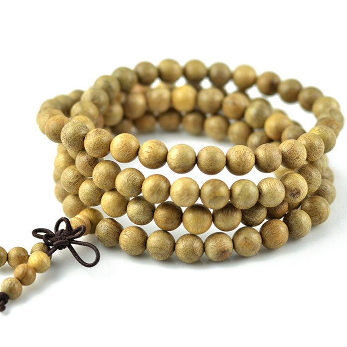 Authentic real gold Phoebe bracelets beads  108 wood prayer beads mens bracelets