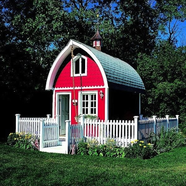 Simple Living in a Tiny Red Barn House Tiny Homes 100 sq ft