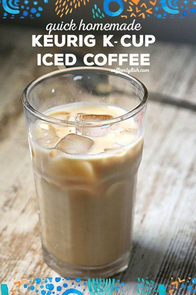 How To Make Iced Coffee With Keurig Coffeestylish Com Easy Coffee Recipes Coffee Recipes Diy Iced Coffee