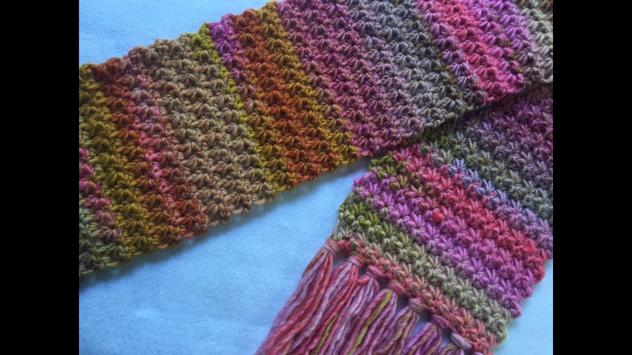 Crochet TRINITY SCARF Tutorial YouTube Scarf tutorial