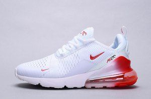 Herren Damen Winter Nike Air Max 270 Sneakers Gradient weiß