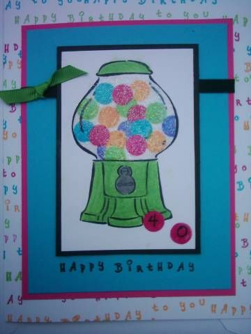 Treat Yourself 40th Birthday. ...artwork: Mary S.,  images © Stampin' Up!®