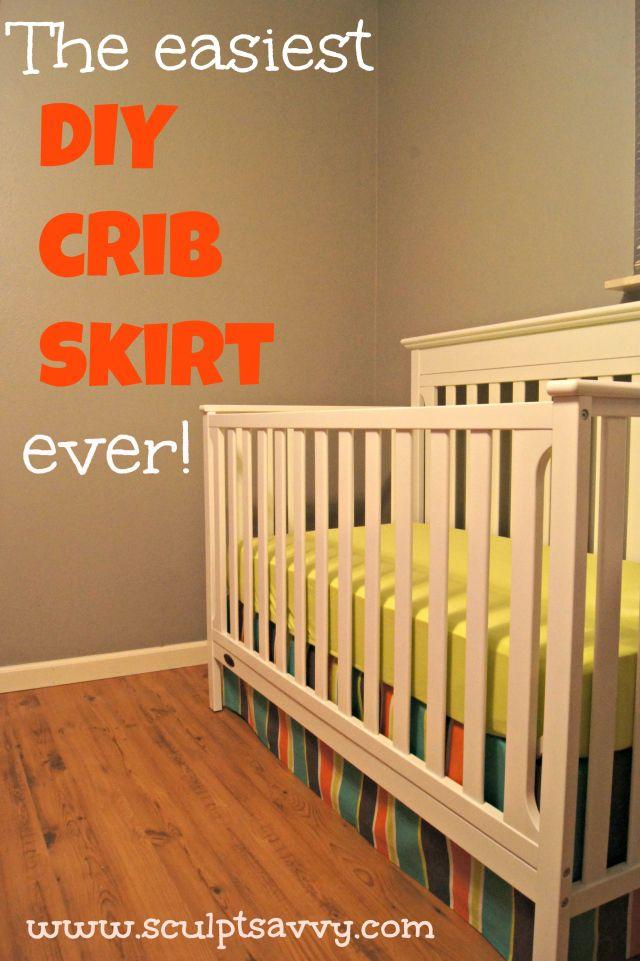 The Easiest DIY Crib Skirt, EVER   DIY projects   Diy crib ...