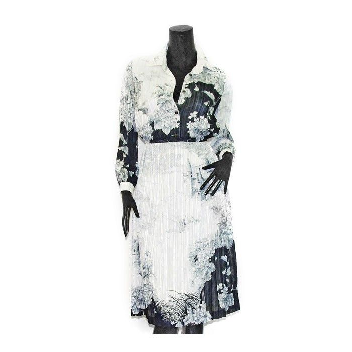 SILK CHIFFON FLORAL DRESS