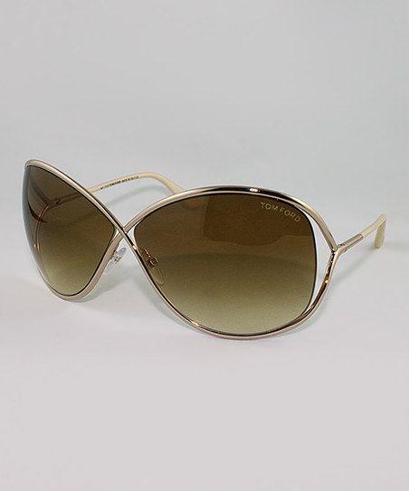 def2472009171 Gold Miranda Crossover Sunglasses