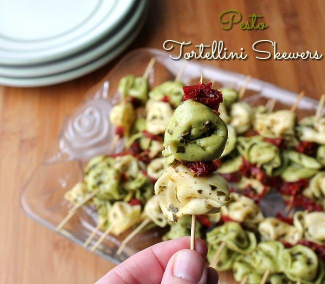 Easy Pesto Tortellini Skewers Recipe Pesto Tortellini