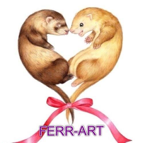 Ferret Heart By Ferr Art