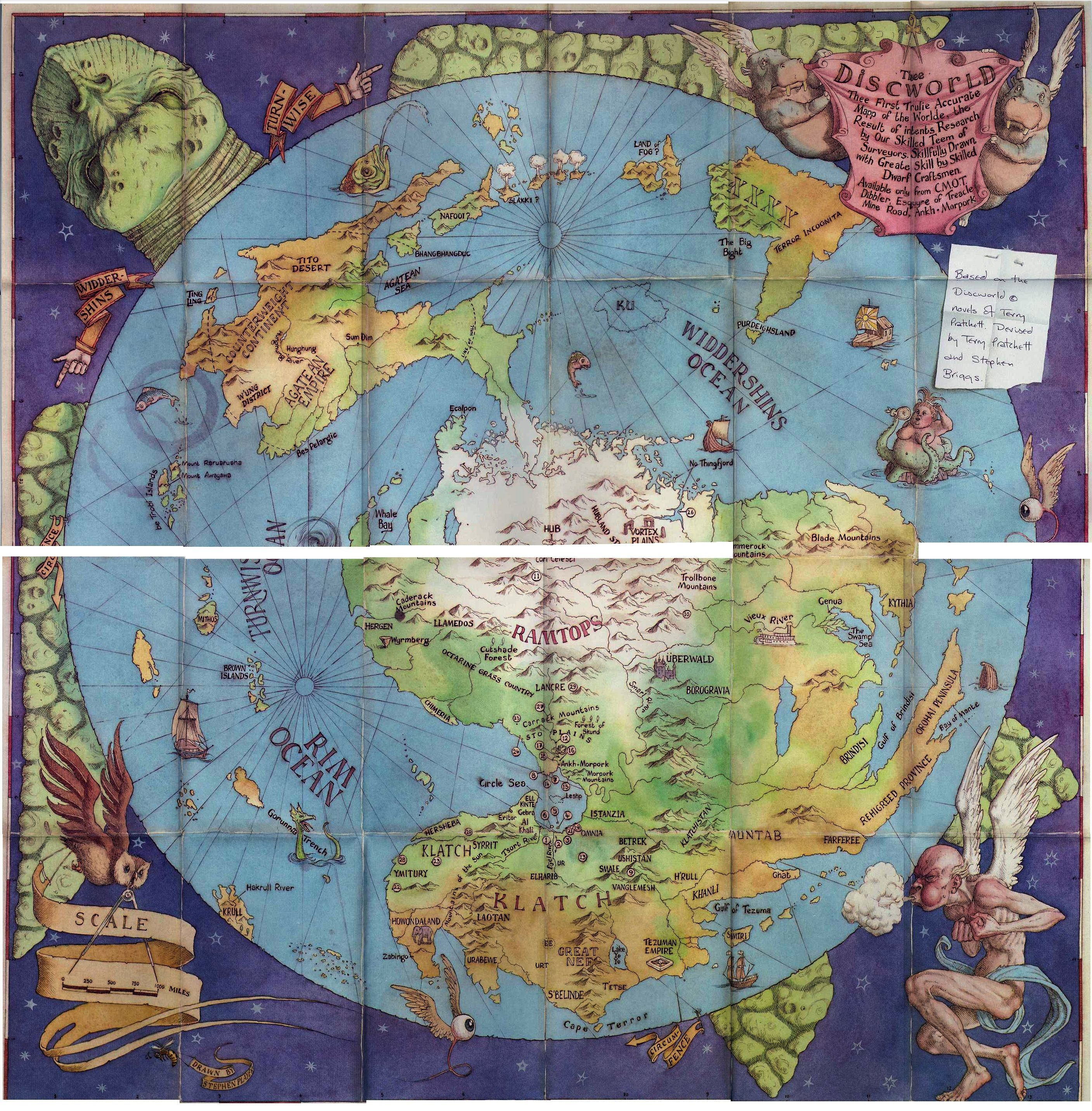 Discworld. Because a map of any world with a place called Bad Ass in it is awesome! | MapBests ...