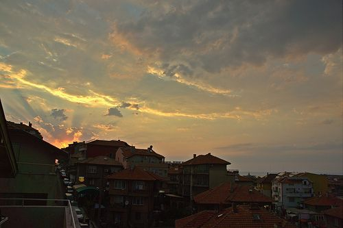Sunset in Sozopol VI (At the Seaside Resort in Bulgaria, Europe)