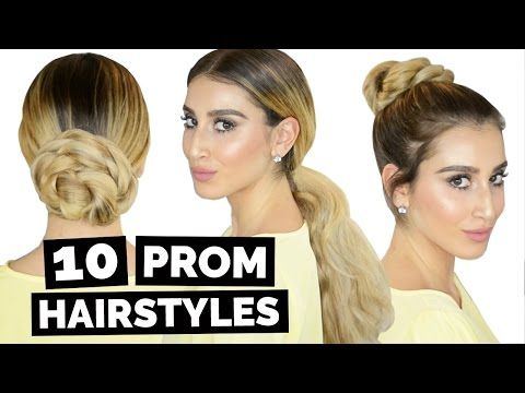 10 Easy Prom Hairstyles! - YouTube