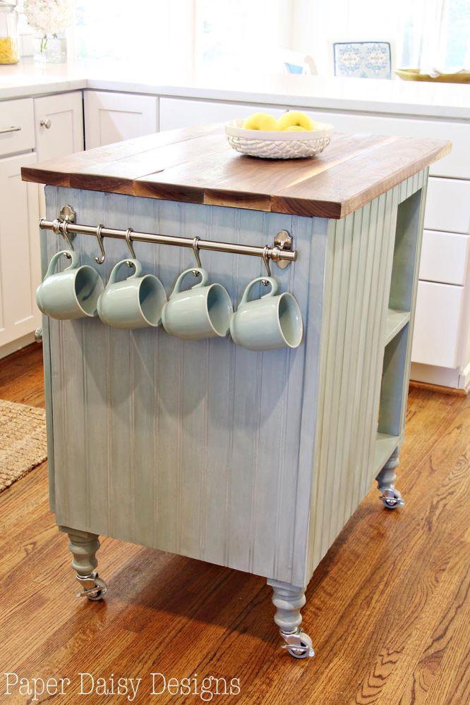 Diy Kitchen Island Cart With Plans Kitchen Island Cart Kitchen Design Small Kitchen Island Design