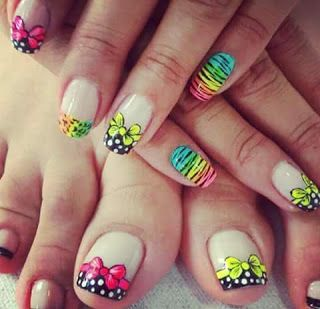 figuras de uñas para pies y manos | Uñas con figuras, Uñas ...