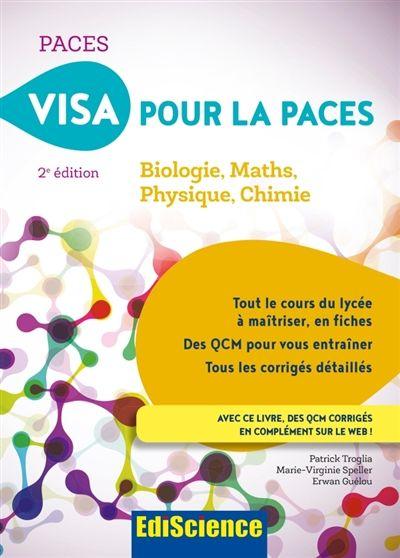 610 Tro Visa Pour La Paces Biologie Maths Physique Chimie P Troglia M V Speller E Guelou Biologie Chimie Livre Audio
