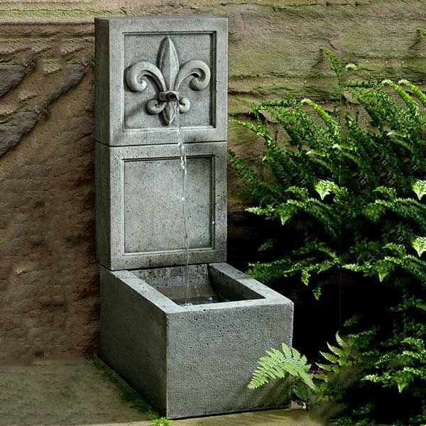 Fleur de Lis Outdoor Wall Fountain LFOT203 Saint Patrick\u0027s Day