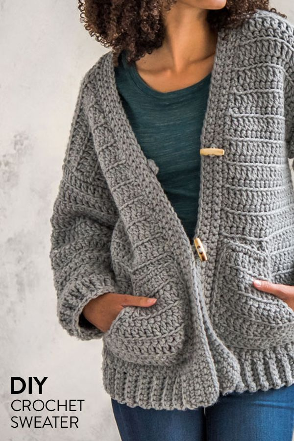Make your own high quality crochet cardigan to wear by the fire this summer.