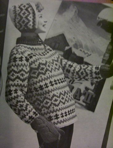 Vintage Knitting Patterns: Fair isle ski sweaters 1960s | Fair ...