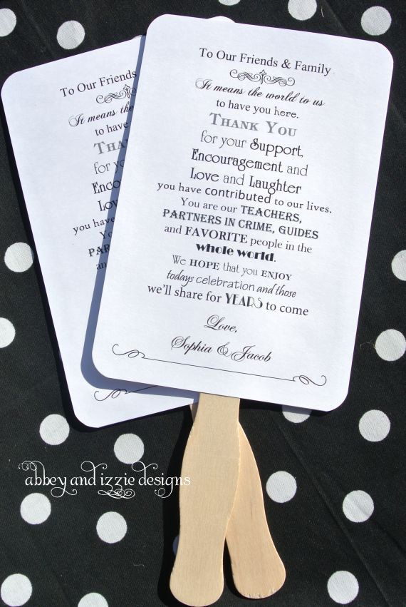 Personalized Hand Fans Wedding Summer Outdoor By Abbey And Izzie Designs