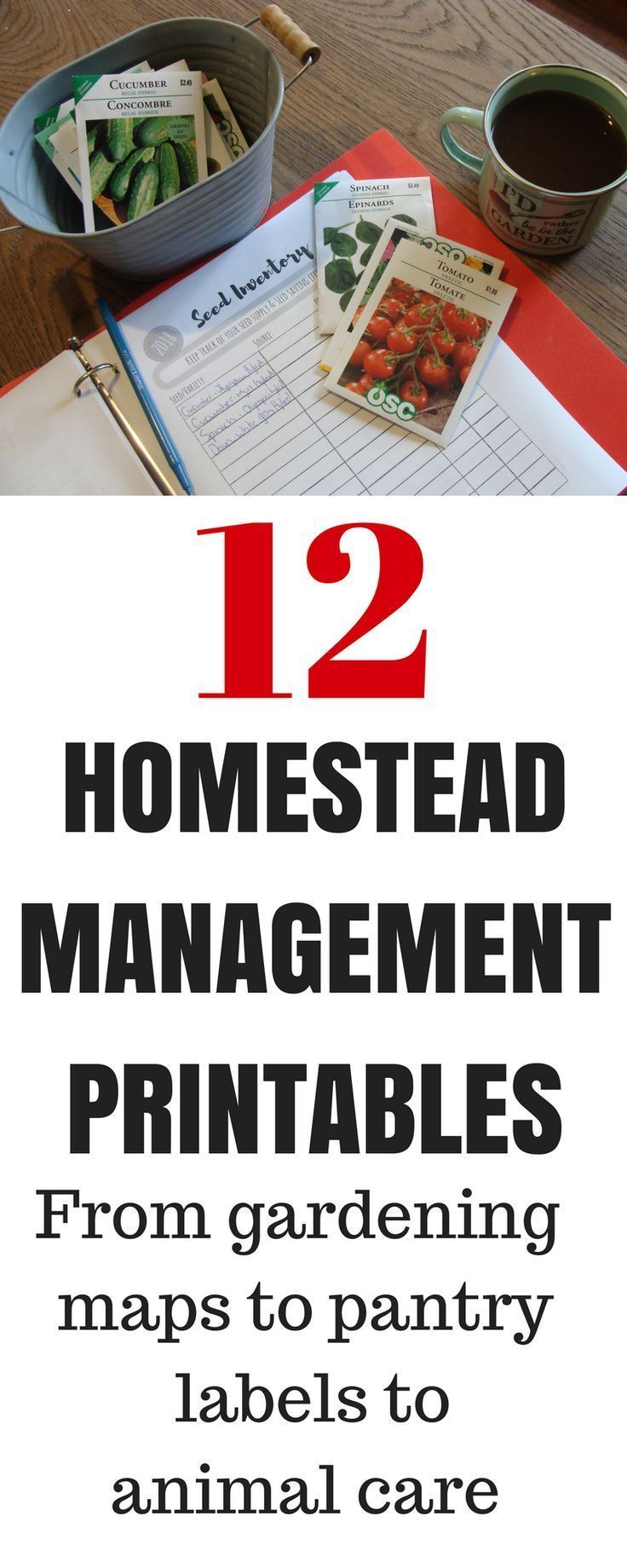 Homestead Management Printables Garden planner