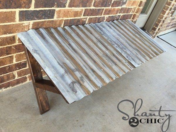 DIY Corrugated Metal Awning | Metal awning, Diy awning ...